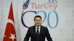 Deputy Prime Minister Ali Babacan announcing Turkey's G20 Presidency Priorities at a press conference on 1 December 2014.