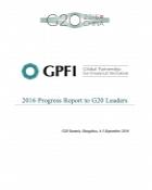 GPFI 2016 Progress Report to G20 Leaders
