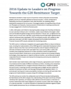 2016 Update to Leaders on Progress Towards the G20 Remittance Target